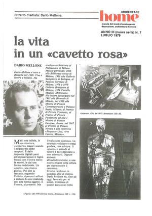 Articoli Mellone: Rivista Ambientare – LUGLIO 1979