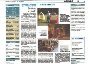 Sculture e quadri a Villa Rescalli Villoresi – Il Giorno – giugno 2015