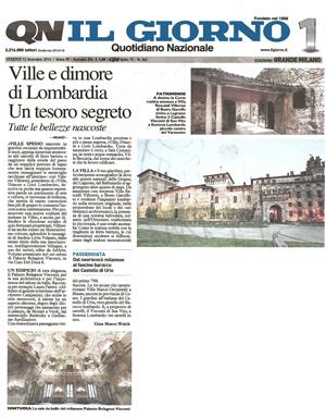 Ville e Dimore della Lombardia – Il Giorno – dicembre 2014