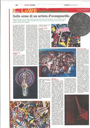 Articoli Mellone: la Repubblica – maggio 2017